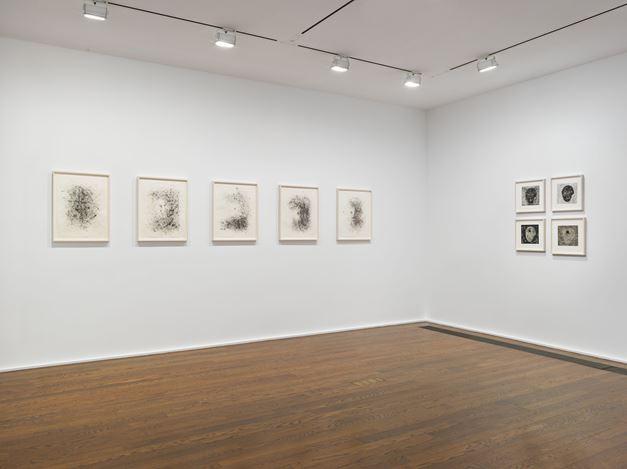 Exhibition view: Jack Whitten,Jack Whitten.Transitional Space. A Drawing Survey, Hauser & Wirth, 69thStreet, New York (6–31 July 2020). © Jack Whitten Estate. Courtesy the Jack Whitten Estate and Hauser & Wirth. Photo: Genevieve Hanson.