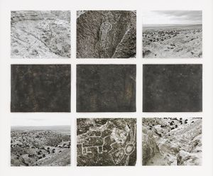 Petroglyph, Three Rivers, New Mexico, by Michelle Stuart contemporary artwork works on paper, drawing