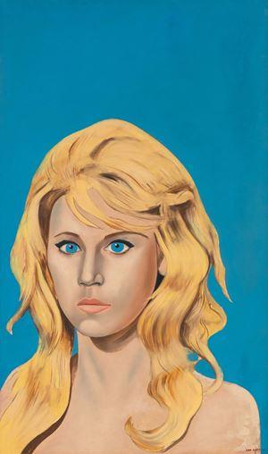 Jane on Blue by Ian Scott contemporary artwork