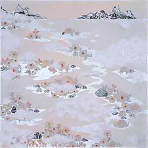 the fog, ''like the lulling waves'' by Crystal Liu contemporary artwork