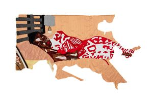 An Angel at My Bedside by Billie Zangewa contemporary artwork