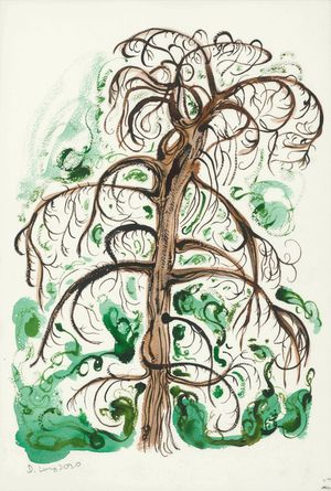 A Tree Ghost Full of Secrets by Julia Long contemporary artwork painting