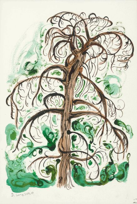 A Tree Ghost Full of Secrets by Julia Long contemporary artwork