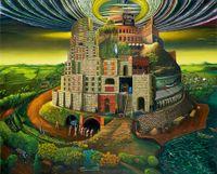 The Tower of Euphoria by Vinod Balak contemporary artwork painting