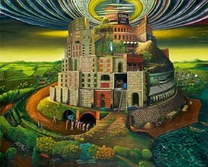 The Tower of Euphoria by Vinod Balak contemporary artwork