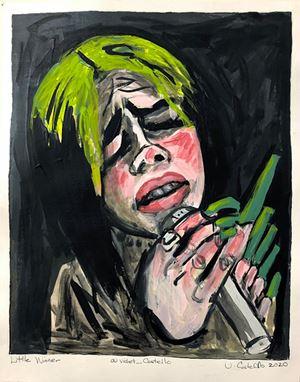 Little Winner (Billie Eilish) by Violet Costello contemporary artwork