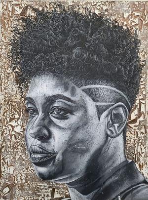 Christina by Alfred Conteh contemporary artwork
