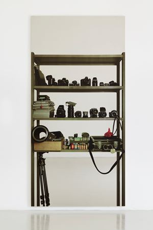 Scaffali - strumenti fotografici (Shelves – photographic instruments) by Michelangelo Pistoletto contemporary artwork
