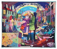 In its Familiarity Golden by Grayson Perry contemporary artwork mixed media, textile