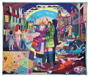 In its Familiarity Golden by Grayson Perry contemporary artwork