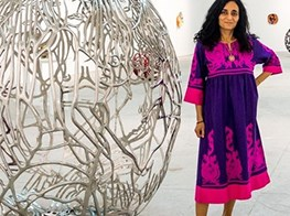 Egyptian artist Ghada Amer talks of 'Earth.Love.Fire'