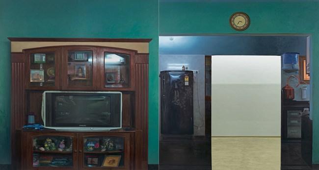 Home (Wall III / Wall IV) by Abir Karmakar contemporary artwork