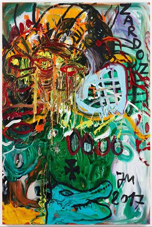 """""""KROKODILL'S BLUBBGRILL..."""" by Jonathan Meese contemporary artwork"""