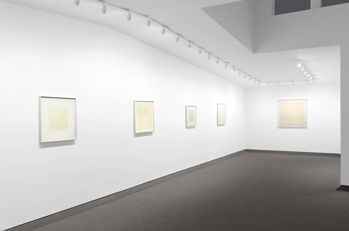 Exhibition view: Robert Ryman, ROBERT RYMAN: The First 25 Years of Prints: 1969–1994, Krakow Witkin Gallery, Boston (22 June–26 July 2019). Courtesy Krakow Witkin Gallery.