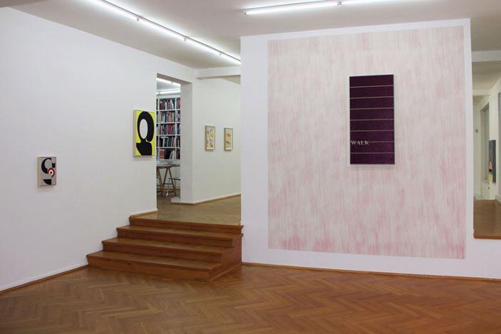 Exhibition view: visual semiotics, Bernhard Knaus Fine Art, Frankfurt (7 November 2019–1 February 2020). Courtesy Bernhard Knaus Fine Art.