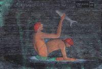 Complaining Man by Abul Hisham contemporary artwork painting