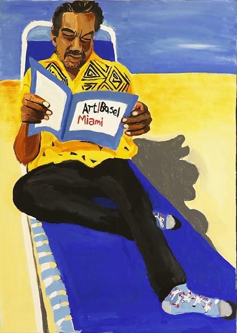 Self-Portrait (Miami Beach 2) by Vincent Namatjira contemporary artwork