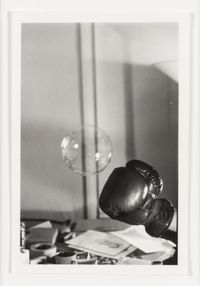 Untitled: Boxing Glove and Bubble #1 by Rose Finn-Kelcey contemporary artwork photography