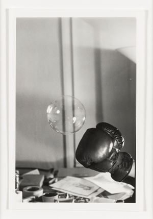 Untitled: Boxing Glove and Bubble #1 by Rose Finn-Kelcey contemporary artwork