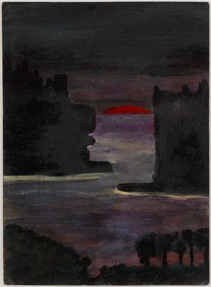 Untitled (Nocturne with red sun) by Frank Walter contemporary artwork