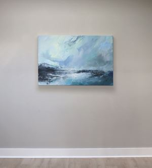Sea state force 2 - Small waves, bright day by Janette Kerr contemporary artwork