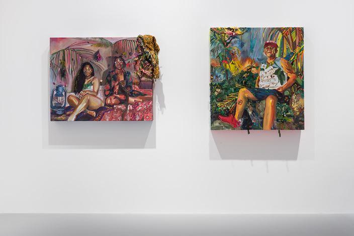 Exhibition view:Gisela McDaniel, Making WAY/FARING Well, Pilar Corrias Gallery (8 September–26 September 2020). Courtesy Pilar Corrias.