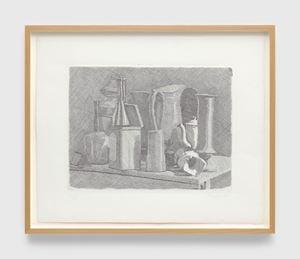 Grande natura morta con la caffettiera (Large still life with coffee pot) by Giorgio Morandi contemporary artwork