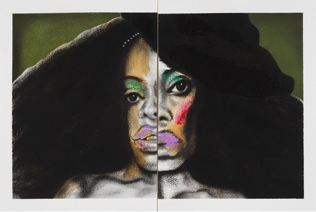 Big Hair by Nathaniel Mary Quinn contemporary artwork
