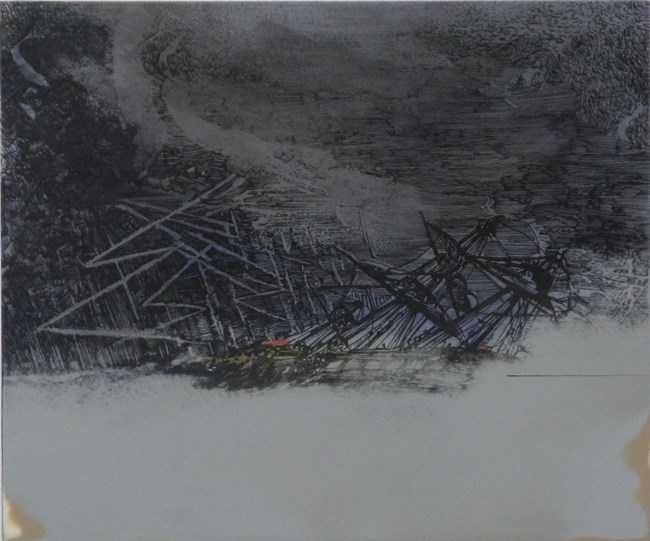 Untitled shipwreck (touched) by Whitney Bedford contemporary artwork