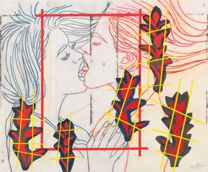 House of Lust by Reza Farkhondeh & Ghada Amer contemporary artwork