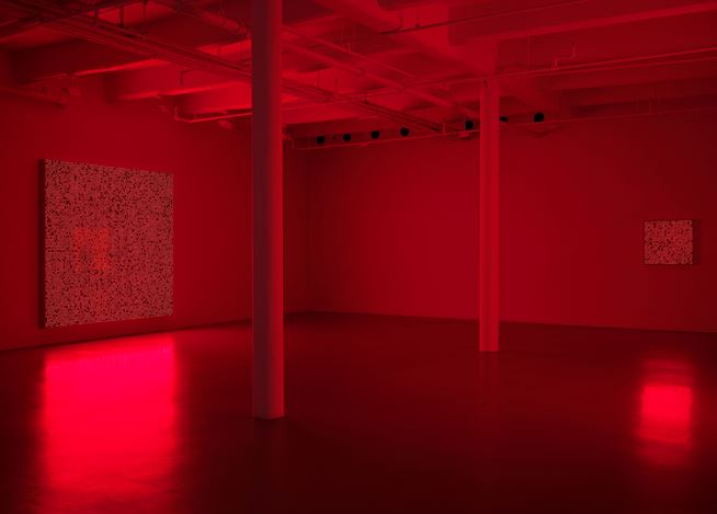 Exhibition view: Tatsuo Miyajima, Innumerable Life / Buddha, Lisson Gallery, 10th Avenue, New York (11 January–16 February 2019). © Tatsuo Miyajima. Courtesy Lisson Gallery.