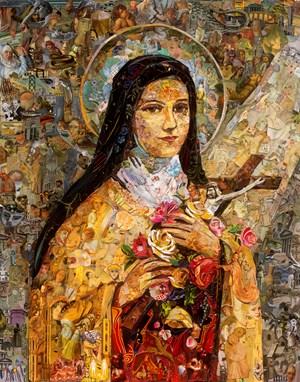 Repro (Saints): Saint Therese of Lisieux by Vik Muniz contemporary artwork