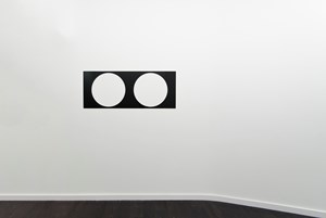 Two Round Holes, Square Pitch by Douglas Allsop contemporary artwork