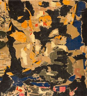 Untitled by Mimmo Rotella contemporary artwork