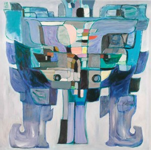 Revelation of Bronze—Blue 青铜的启示—蓝调 by Pang Tao contemporary artwork painting