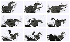 Original Animation Drawings - Cuo'e by Sun Xun contemporary artwork