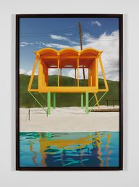 Orange Guesthouse by James Casebere contemporary artwork photography
