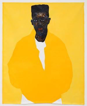 Jordan Mbuyamba by Amoako Boafo contemporary artwork