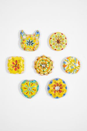 Blue and Yellow Donuts Set by Jae Yong Kim contemporary artwork sculpture