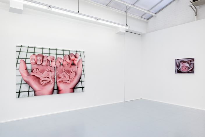 Exhibition view: Louisa Gagliardi, Side Effects of Satisfaction, Rodolphe Janssen Gallery, Brussels (16 March–4 May 2019). Courtesy Rodolphe Janssen Gallery. Photo: HV photography.