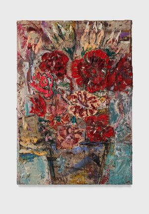 Flowers 14 (red roses) by Daniel Crews-Chubb contemporary artwork
