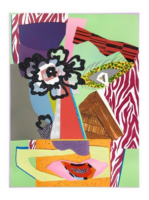 Untitled #18 by Mickalene Thomas contemporary artwork