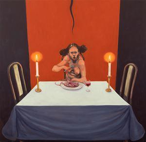 Solitude by Michael Kvium contemporary artwork