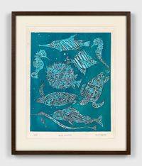 Blue water by Marcel Dzama contemporary artwork painting, works on paper, drawing