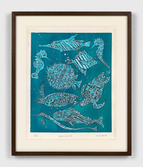 Blue water by Marcel Dzama contemporary artwork