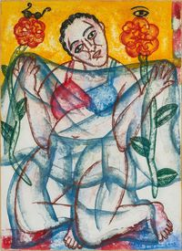 Seated Figure by Arpita Singh contemporary artwork painting