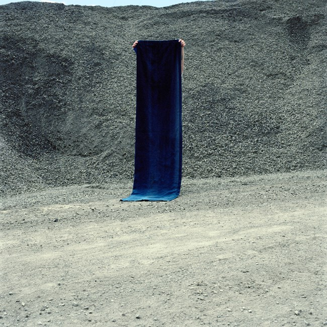 Grey stones and blue velvet by Layla Rudneva-Mackay contemporary artwork