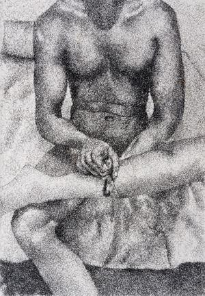 Figure Study IV by Frances Goodman contemporary artwork