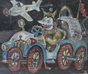 Race with Airplanes by Heri Dono contemporary artwork