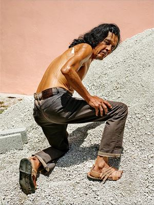 The Bricklayer, Oaxaca de Juárez by Pieter Hugo contemporary artwork